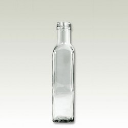 Rectangle glass bottle with cap MARASCA