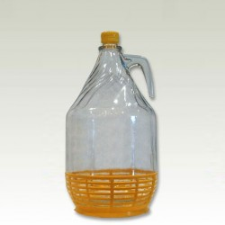Glass bottle with cap 5000ml