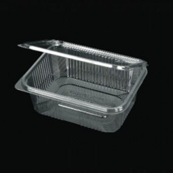 PET 1000ml container with intergrated lid
