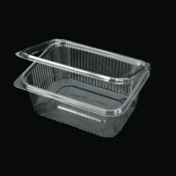 PET 1250ml container with intergrated lid