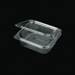 PET 370ml container with intergrated lid 100pcs