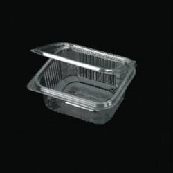 PET 500ml container with intergrated lid