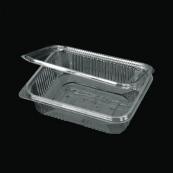 PET 750ml container with intergrated lid