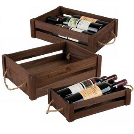 Wooden basket for cellars