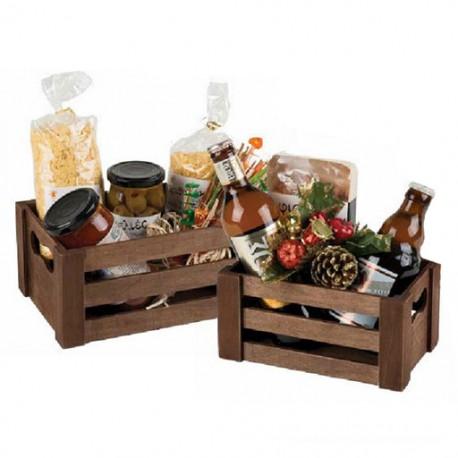 Brown wooden basket