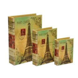 "Wooden book with lining ""Paris postcard"""
