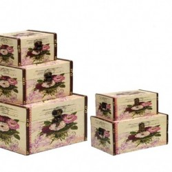 Wooden lining box Rose