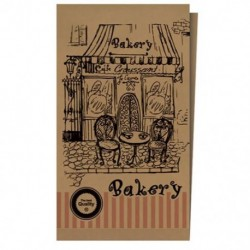 Craft paper sachets for bakery shops