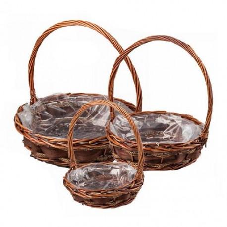 Basket with high handle