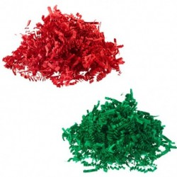 Shred paper for packaging two colors