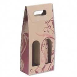 Carton Bottle Box for 2 bottles 25pcs