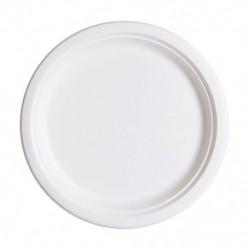 White paper plates 50pcs