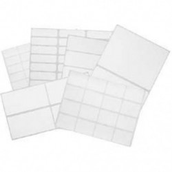 White adhesive labels
