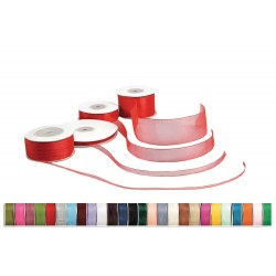 Organza-selvage ribbon 6mm x 100m